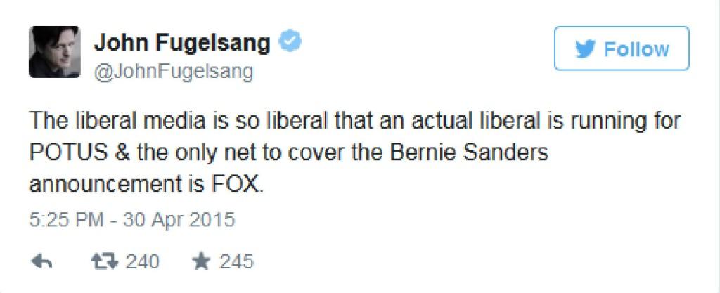 Fugelsang on Sanders