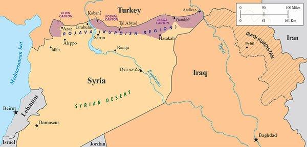 Syrian Kurd Control