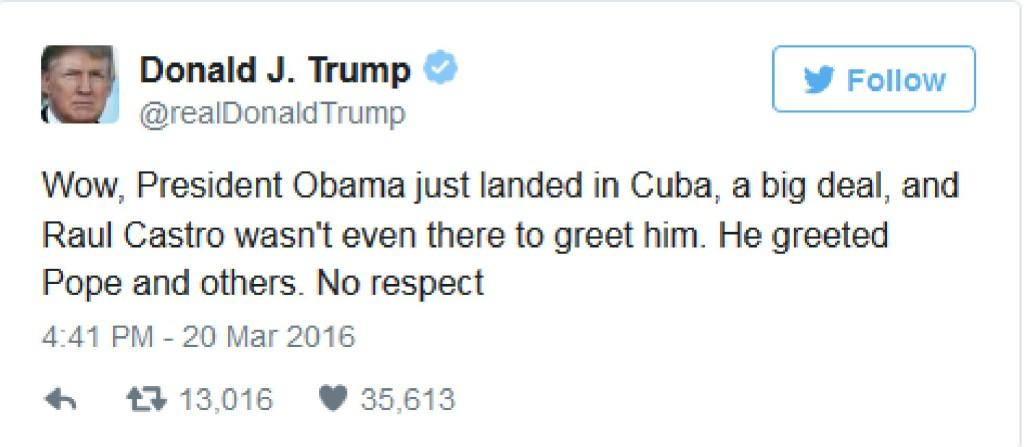 Trump lambasts Castro