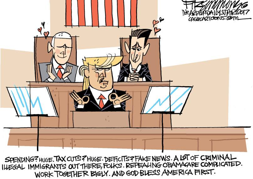 Image result for TRUMP CARTOONS WITH SYCOPHANT CONGRESS